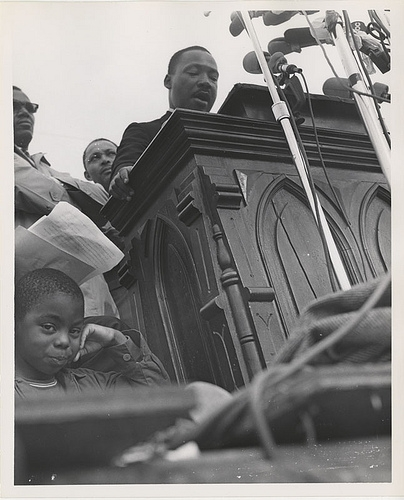 Martin Luther King, Jr. speaking at Montgomery March
